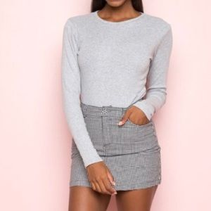 Light Gray BRANDY MELVILLE Long Sleeve Top Thermal